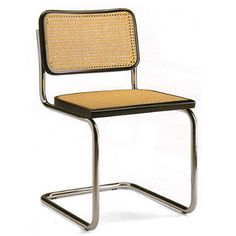 "Cesca Chair designed in 1928 by Marcel Breuer. The name ""Cesca"" was a tribute to his daughter Francesca"