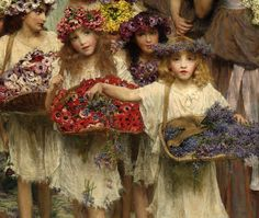 "Lawrence Alma-Tadema ""Spring"" (detail) 1894 | por Plum leaves"