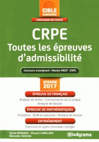 CRPE - Toutes les épreuves d'admissibilité. - Sylvie Bernard et Vincent Carillion - https://hip.univ-orleans.fr/ipac20/ipac.jsp?session=14G4552KL4292.1345&profile=scd&source=~!la_source&view=subscriptionsummary&uri=full=3100001~!570639~!2&ri=19&aspect=subtab48&menu=search&ipp=25&spp=20&staffonly=&term=CRPE+-+Toutes+les+%C3%A9preuves+d%27admissibilit%C3%A9&index=.GK&uindex=&aspect=subtab48&menu=search&ri=19