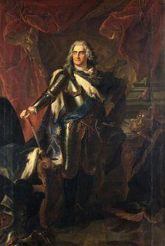 Луи де Сильвестр. Король Август II. 1718.