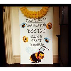 Teacher Appreciation Idea (poster for the teacher's door or door decorating idea)