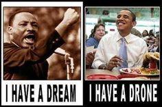 Come cambiano le cose in 50 anni... #MLKdream50 #drones #Obama .