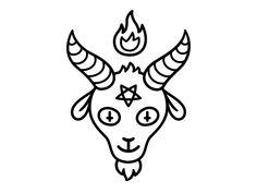 Lil' Baphomet designed by Irina Mir. Connect with them on Dribbble; Mini Tattoos, Small Tattoos, Tattoo Sketches, Tattoo Drawings, Posca Art, Satanic Art, 4 Tattoo, Baphomet, Tattoo Stencils