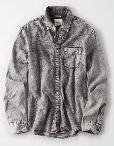 26682ee8ec AE Black Acid Wash Denim Shirt - Denim Shirt