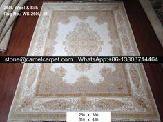 260L wool silk mixed carpet #handmade#carpet#silk#carpet#rug