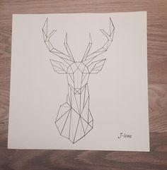 #geometric #drawing #deer
