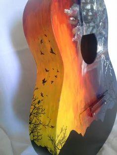 Painted guitars…                                                                                                                                                                                 Mais