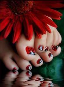 Image Detail for - Simple Toe Nail Art Design | Top Nails Art