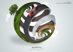 Audi Quattro - Power even in nonsense roads via www.creativeadawards.com