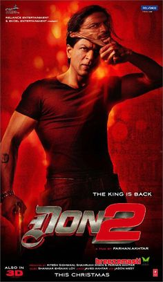 Don 2 w/ Shah Rukh Khan, Priyanka Chopra, Om Puri, Hrithik Roshan, Bomam Irani = get on DVD with English subtitles