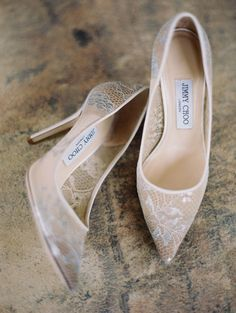 Lace Jimmy Choo wedding shoes: Photography: Erich McVey - http://erichmcvey.com/