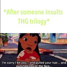Lol haha funny pics / pictures / Hunger Games Humor / Disney Movies / Lelo And Stitch