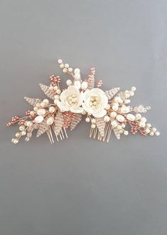 Fulfill a Wedding Tradition with Estate Bridal Jewelry Wedding Hair Roses, Vintage Wedding Hair, Hair Comb Wedding, Wedding Hair Pieces, Bridal Hair Pins, Bridal Jewelry, Rose Gold Hair, Bridal Headpieces, Bridal Accessories