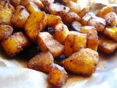 Looking for a new tasty side-dish? Kelewele (pronounced Kay-lay-way-lay) is a popular Ghanaian dish made with plantains that is often accompanied with a bean stew or rice dish. This recipe was originally published by Elmotoo on food.com. Total Time: 30...