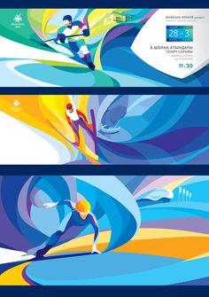 Winter Sport 2011 Astana-Almaty Illustration for Asian Winter Games Sports Graphic Design, Graphic Design Posters, Graphic Design Illustration, Sport Design, Illustration Sketches, Englisch Springer Spaniel, Sport Videos, Web Design, Logo Design
