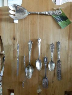 Upcycled serving spoon wind chime
