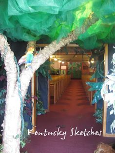 Great ideas for making jungle themed day/vbs.  Kentucky Sketches: Wild Times in God's Kingdom