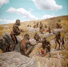 Australopithecus africanus - by Jay H. Matternes