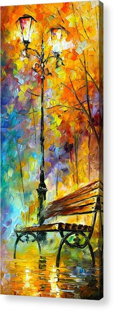 Afremov Acrylic Print featuring the painting Aura Of Autumn 2 by Leonid Afremov