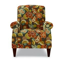 Charlotte High Leg Recliner by La-Z-Boy in Graffiti fabric... A contemporary chair for Kip