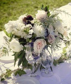 white wedding centerpiece idea; photo: Leanne Pedersen Photographers