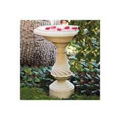 Balustrade Birdbath ($1,299) ❤ liked on Polyvore featuring home, outdoors, outdoor decor, fountains & birdbaths, outdoor enhancements, bird-bath, outdoor patio decor, outdoor garden decor, garden bird bath and outdoor bird bath