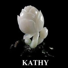 【KATHY】冰种帶蘋果綠翡翠珠宝摆件 《花開富貴》9500