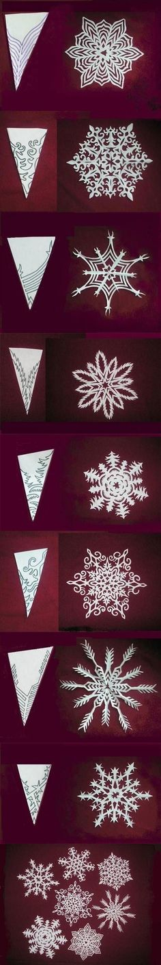 Make paper snowflakes .- Papier Schneeflocken basteln … Make Paper Snowflakes More - Winter Christmas, Christmas Holidays, Christmas Ornaments, Christmas Ideas, Christmas Paper, Christmas Snowflakes, Office Christmas, Winter Snow, Origami Christmas