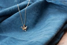 10K Gold Origami Crane Necklace – The Colossal Shop