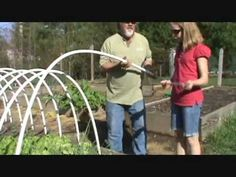 This video is showing you how to make an inexpensive hoop garden, so you can grow plants all year long