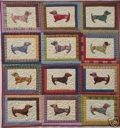 Quilt PATTERN Hot diggity dog Dachshund applique puppy | Crafts, Sewing, Quilting | eBay!