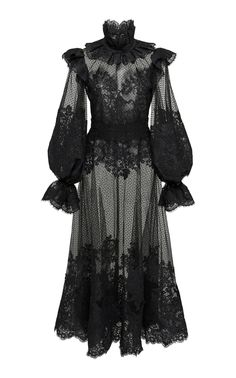 Ruffled Flocked Tulle Maxi Dress by ZIMMERMANN Now Available on Moda Operandi Source by maddelinew dress outfits Alternative Mode, Alternative Fashion, Fashion Mode, Dark Fashion, Emo Fashion, Fashion Trends, Chiffon Maxi Dress, Silk Chiffon, Dress Outfits