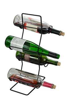 Wine Racks - 4 Bottle Wine Rack  Tree Black Iron >>> You can get additional details at the image link.