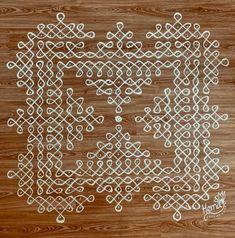Kolam Dots, Rangoli Borders, Rangoli Patterns, Indian Rangoli, Kolam Rangoli, Simple Rangoli, Rangoli Designs Flower, Rangoli Border Designs, Rangoli Designs With Dots