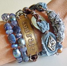 Courage Wrap Bracelet/necklace by Nina Bagley