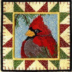 Threadsketches' set Stitchin' up Christmas - Christmas machine embroidery design, cardinal block