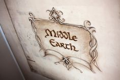 Exclusieve Middle Earth landkaart muurschildering