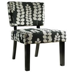 Lena Accent Chair in Black