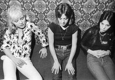 Debbie Harry Suzi Quatro and Joan Jett (Photo by Chris Stein) early 70's
