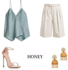 #honeylook #look #style Summer Fashion Trends, What To Wear, Summer Outfits, Honey, My Style, Polyvore, Clothes, Beauty, Ideas