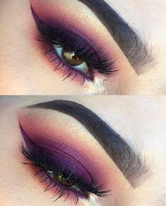 Fierce Eyes, Purple to Peach Blending