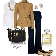 """Running Late"" by elayne-forgie on Polyvore... cute for work!"