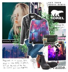 """Throwin' empty bottles in the fire Whiskey's got us singin' like a choir We're all gonna run, when the police come. But in the mornin' we're so alive"" by amna-asif2 ❤ liked on Polyvore featuring SOREL, Nearly Natural, Acne Studios, Bardot and Ray-Ban"