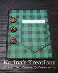 Stampin'Up Buffalo Check and Pocket of Sunshine Gift Card Holder! - Karina's Kreations: Stampin'Up Buffalo Check and Pocket of Sunshine Gift Card Holder! Masculine Birthday Cards, Birthday Cards For Men, Handmade Birthday Cards, Masculine Cards, Greeting Cards Handmade, Birthday Gifts, Diy Birthday, Cards For Men Handmade, Male Birthday