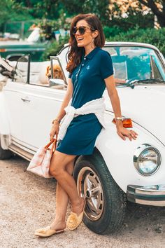 The Anchor Polo Dress - Classy Girls Wear Pearls Source by beanettes dress classy Classy Girl, Classy Women, Classy Dress, Classy Outfits, Preppy Mode, Preppy Style, Polo Dress Outfit, Dame Chic, Mode Bcbg