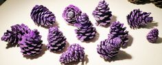 Pine Cones Hand Painted 12 EACH Purple for by PineConePotpourri, $10.00