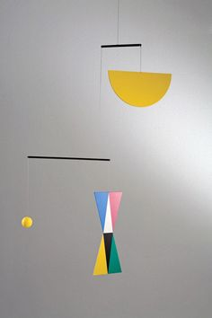 An other Bruno Munari mobile (useless machine) perfect as a 5th baby montessori mobile!