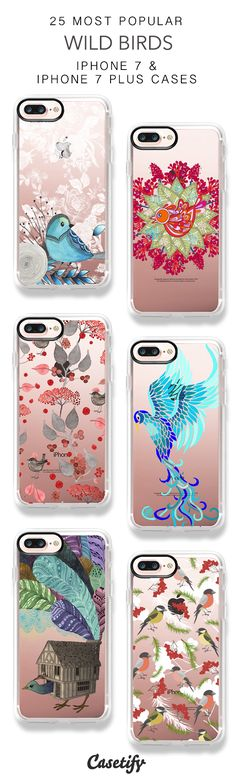 25 Most Popular Wild Birds iPhone 7 Cases and iPhone 7 Plus Cases. More Birds iPhone case here > https://www.casetify.com/collections/top_100_designs#/?vc=iLnDPsraTD