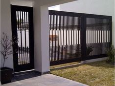 40 Spectacular Front Gate Ideas and Designs — RenoGuide - Australian Renovation Ideas and Inspiration Grill Gate Design, Front Gate Design, Steel Gate Design, House Gate Design, Main Gate Design, Window Grill Design, Door Gate Design, Railing Design, Gate House