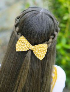 How To Create A Knotted Braid Tieback Braid Hairstyles Cute - hairstyles for girls bow hairstyles for girls fishtail Cute Girls Hairstyles, Flower Girl Hairstyles, Hairstyles For School, Pretty Hairstyles, Toddler Hairstyles, Hot Haircuts, Hairstyles Haircuts, Braided Hairstyles, Updo Hairstyle